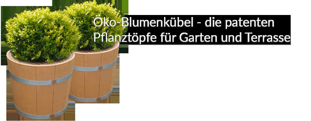 Öko-Blumenkübel - zerlegbarer Blumenkübel mit thermischer Isolation
