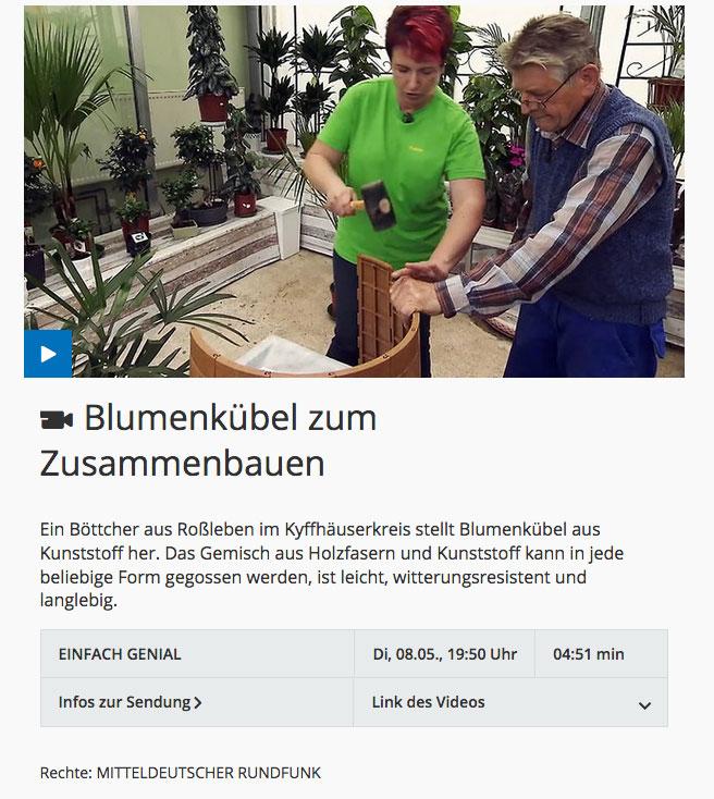 Link zum MDR Video: EINFACH GENIAL Blumenkübel zum Zusammemnbauen