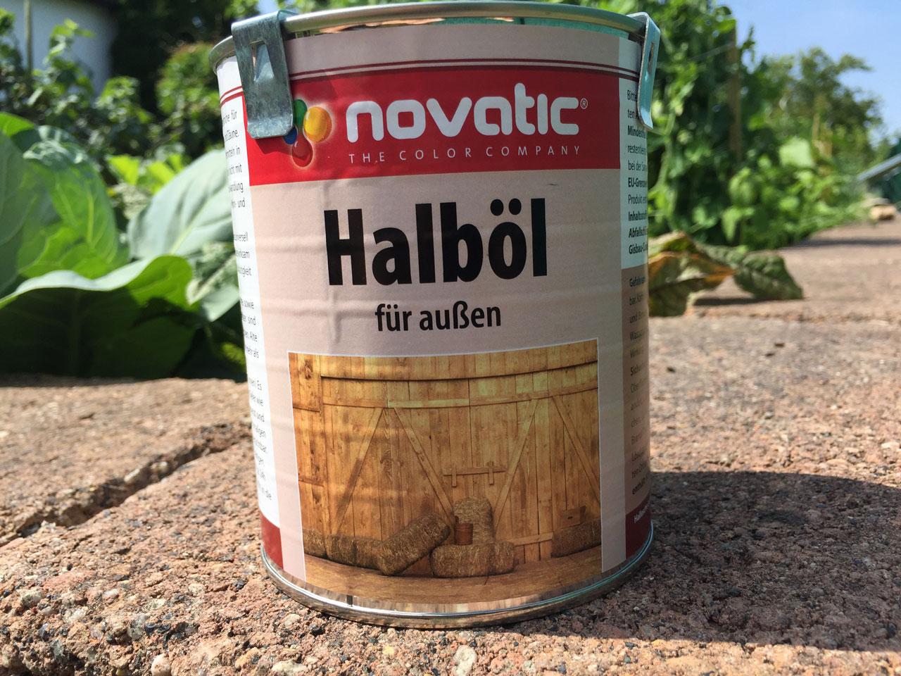 Pflege des SCHÖKÜ mit Halböl der Firma Novatic